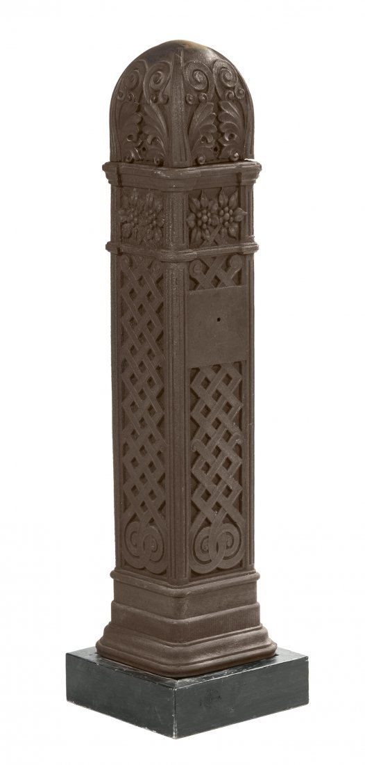 A Cast Iron and Copper Plated Newel Post from Chicago's