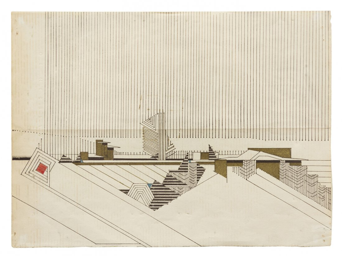 An Architectural Print on Paper, Eugene Masselink (Sout