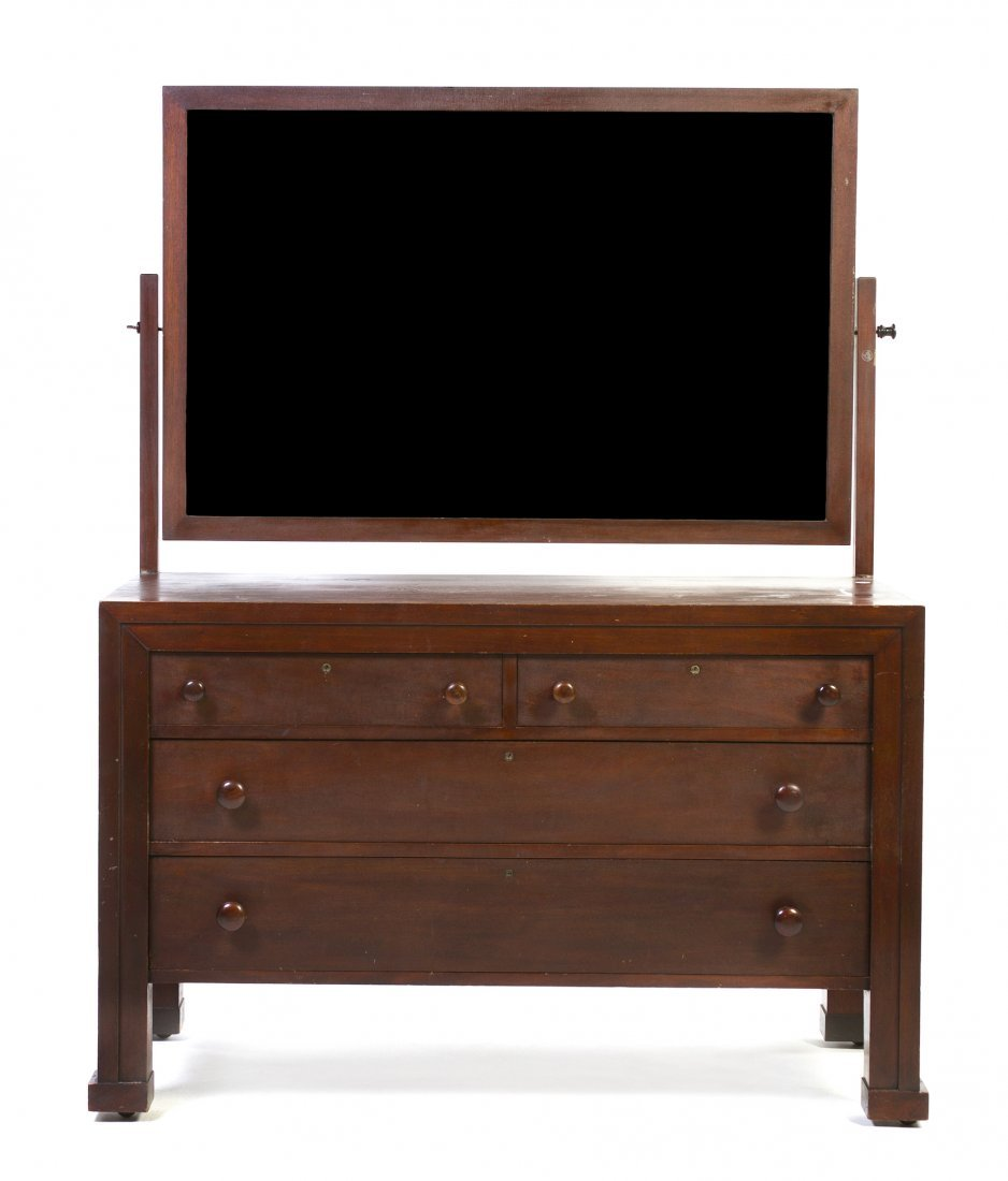 A George Washington Maher Mahogany Dresser, (1824-1926)