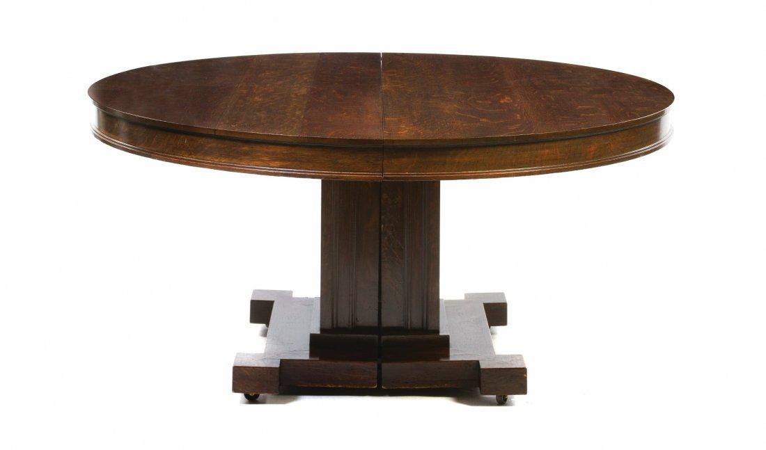 A George Washington Maher Oak Extension Table, (1824-19
