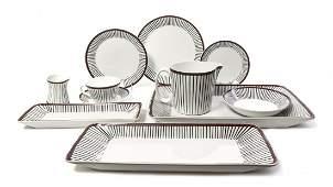 A Swedish Porcelain Partial Dinner Service, Stig Lindbe