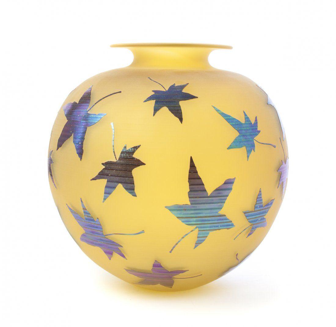 An Australian Studio Glass Vase, Robert Wynne, Height 1