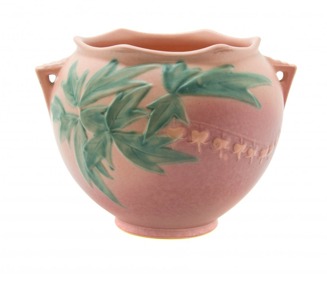 A Roseville Pottery Jardiniere, Width over handle 10 1/