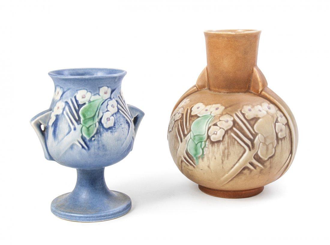 Two Roseville Pottery Vases, Height of taller 9 1/2 inc