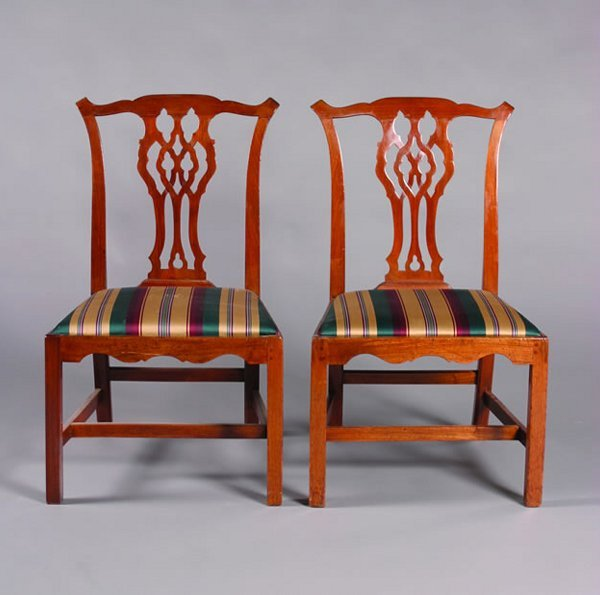 22: A Pair of George III Mahogany Side Chairs