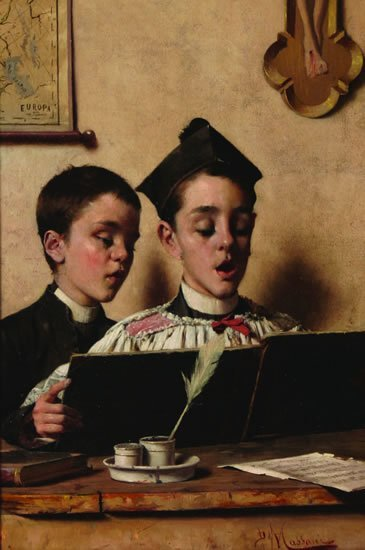 718: Pompeo Massani (Italian 1850-1920)