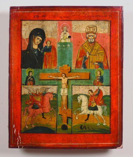 723: A Greek Painted Wood Icon,