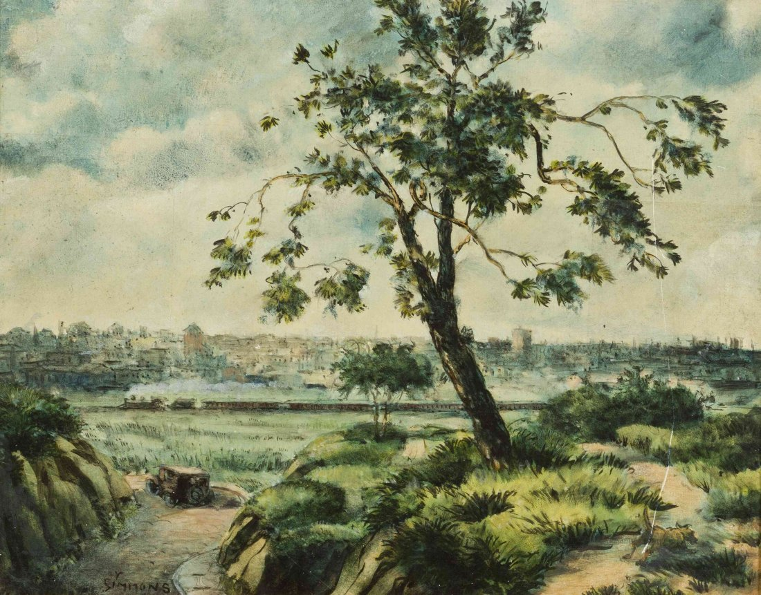 Cordray Simmons, (American, 1888-1970), New York Skylin