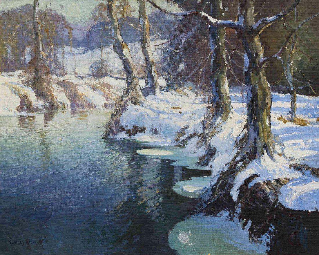 George Ames Aldrich, (American, 1872-1941), Winter Stre