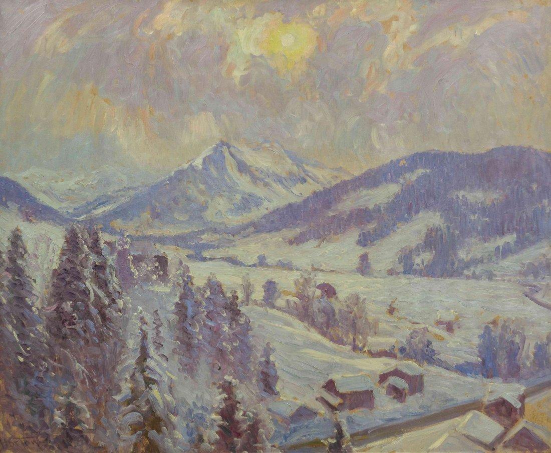 William Samuel Horton, (American, 1895-1936), Snow at G