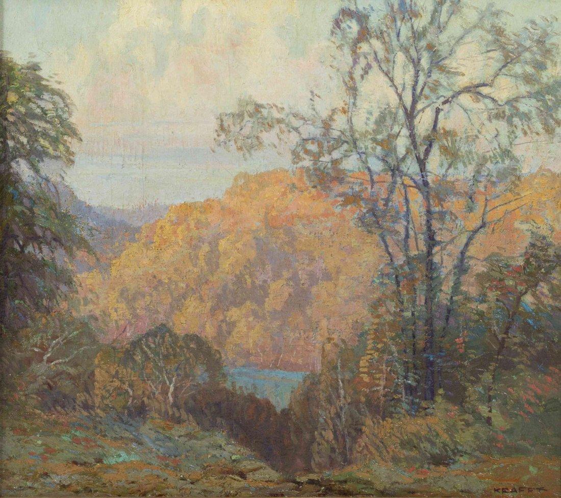 Carl Kraft, (American, 1884-1938), Cliffs