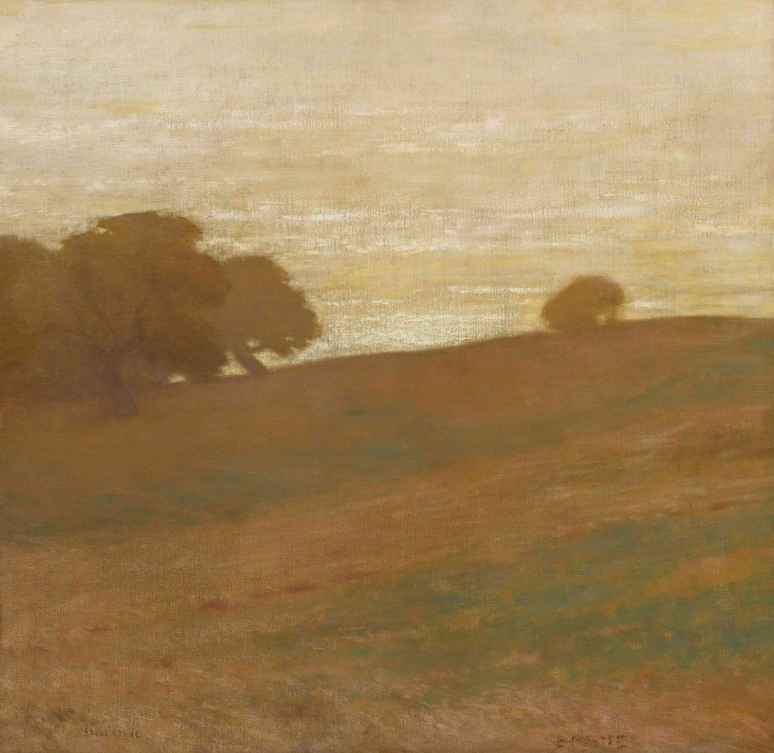 Bruce Crane, (American, 1857-1937), Twilight