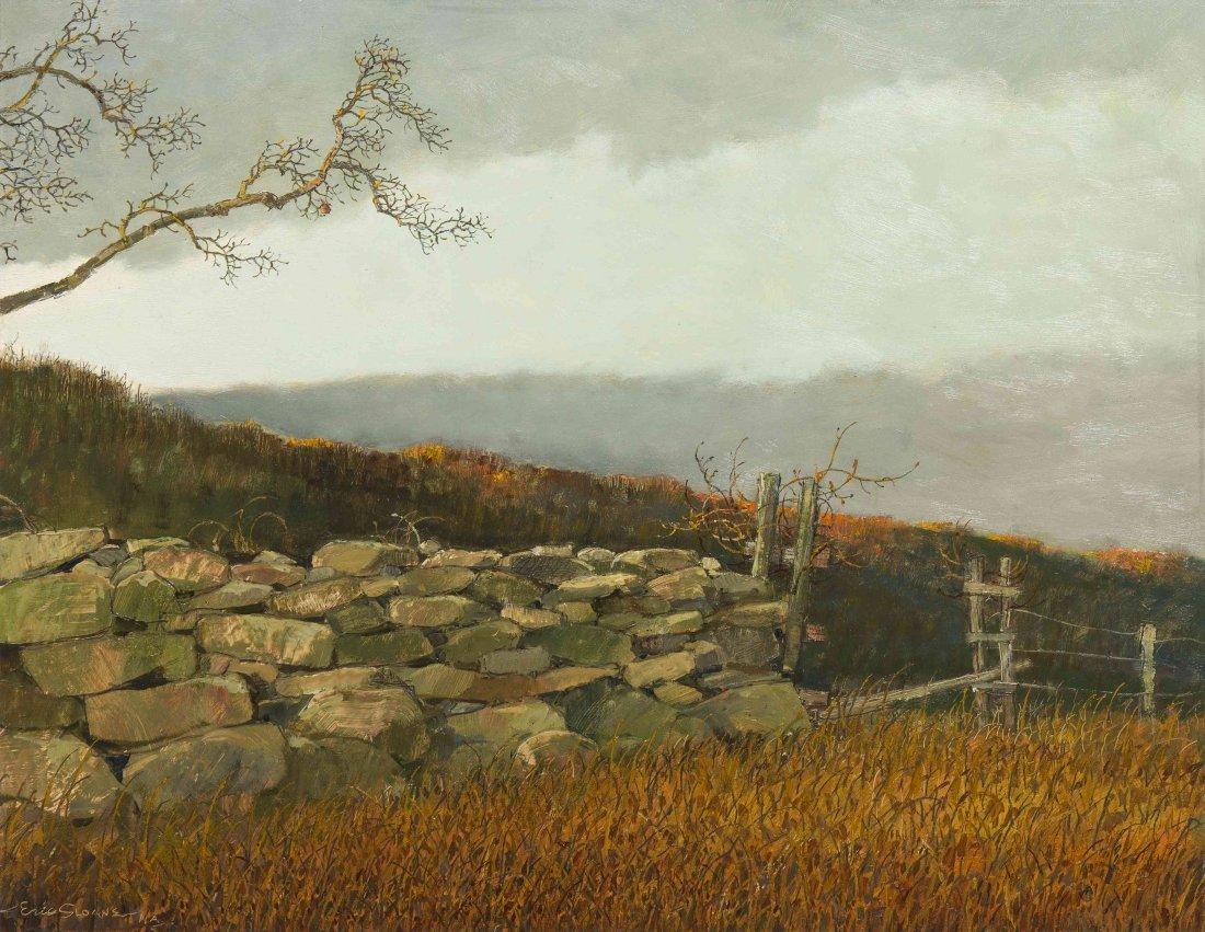 Eric Sloane, (American, 1905-1985), The Stone Wall