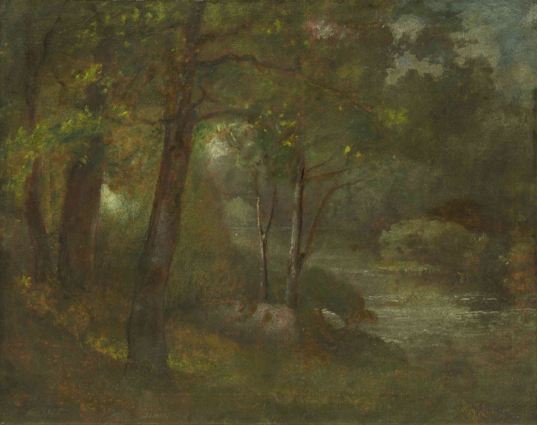 George Inness, (American, 1825-1894), The Brook, c. 187