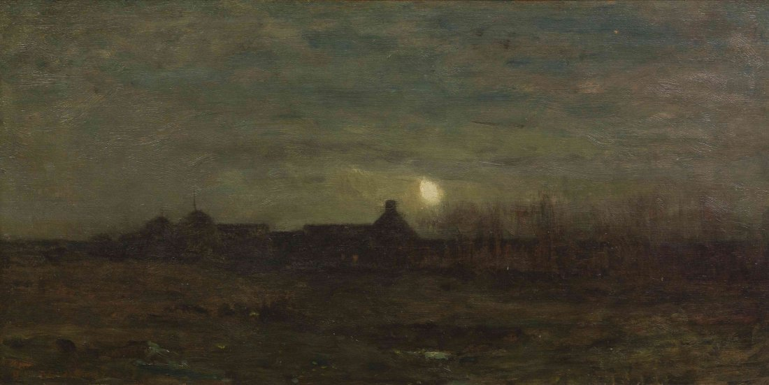 Dwight William Tryon, (American, 1849-1925), Moonlit Ni