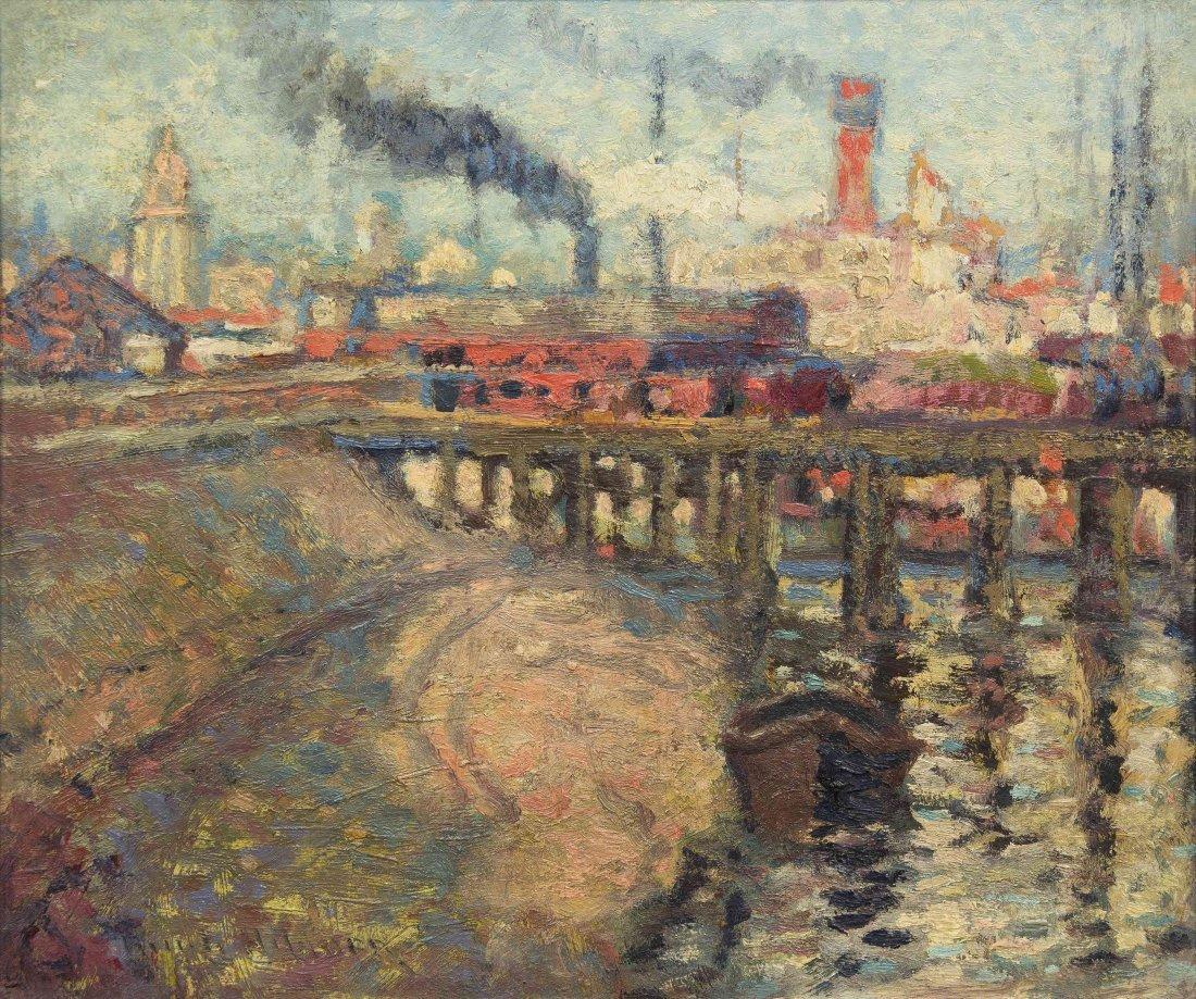 Knute Heldner, (American, 1877-1952), On the Levee