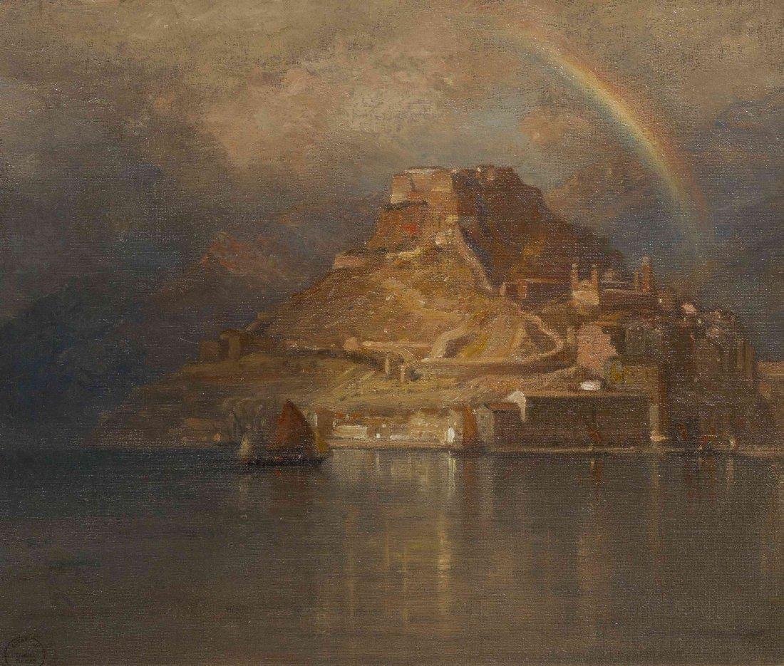 Samuel Colman, (American, 1832-1920), Storm over the Mo