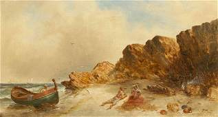 William Morris Hunt, (American, 1824-1879), Mending the