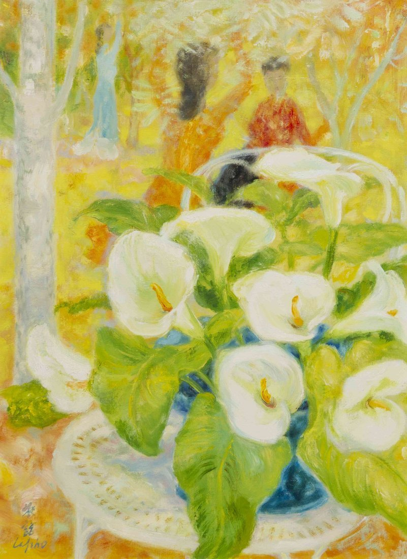 Le Pho, (French, 1907-2001), Les Arums