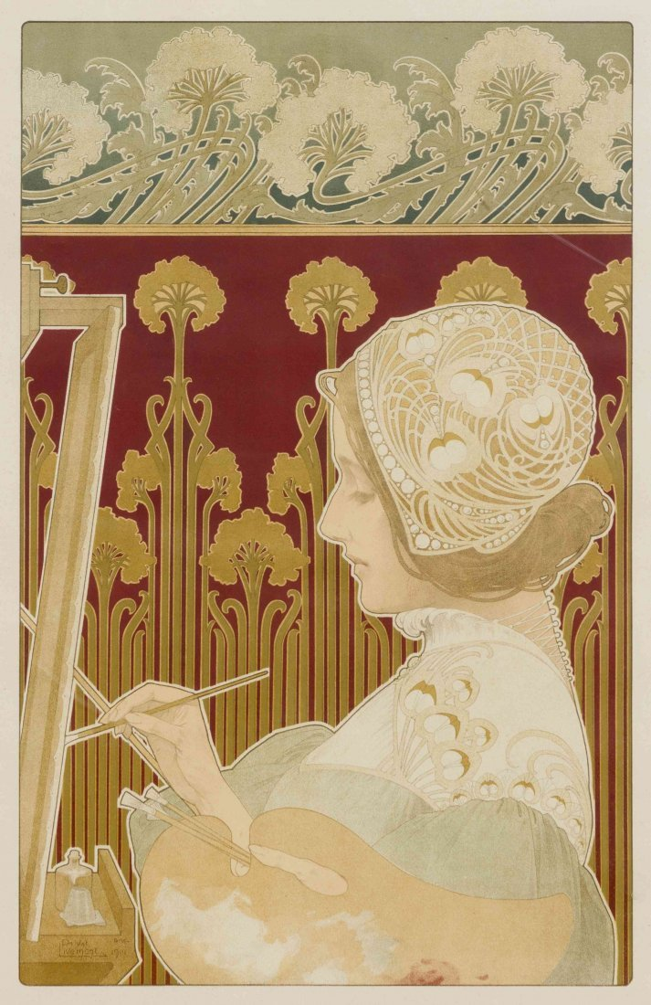 Henri Privat-Livemont, (Belgian, 1861-1936), A Pair of  - 3