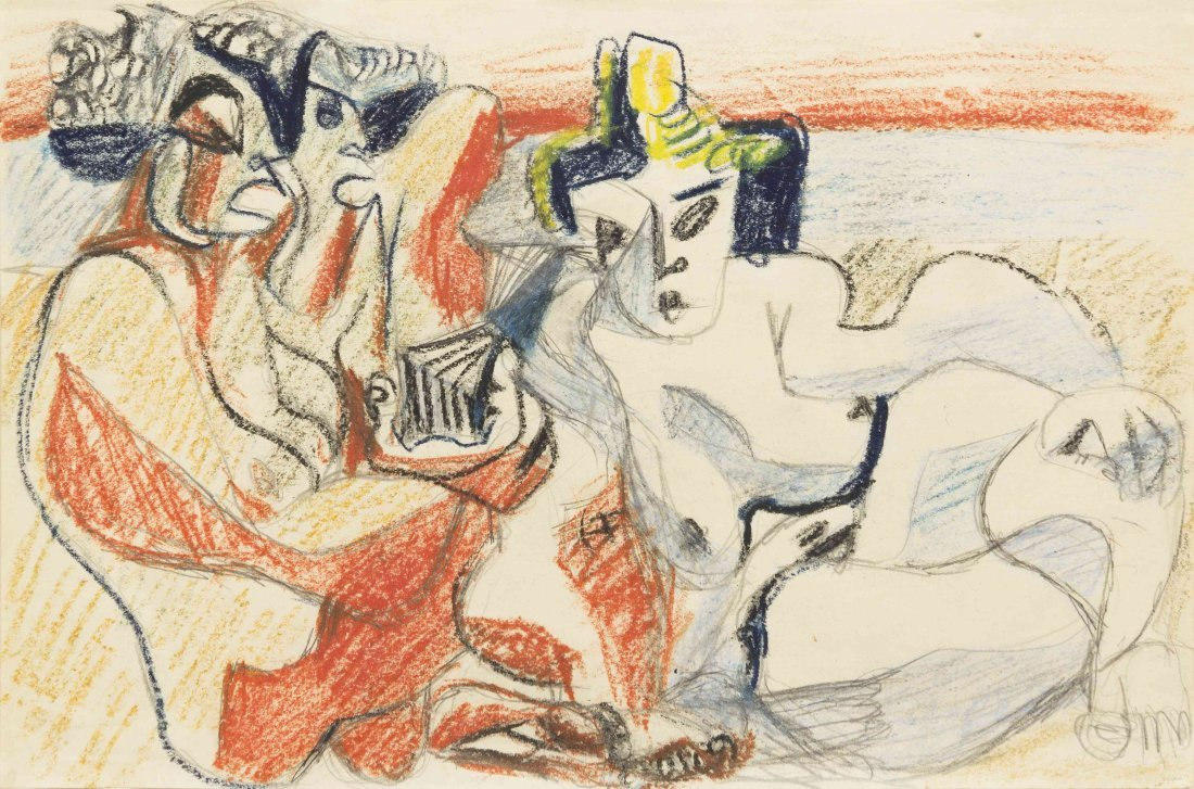 Le Corbusier, (French/Swiss, 1887-1965), Three Nudes