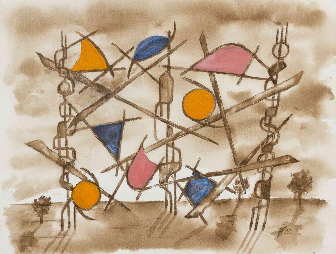 Herbert Ferber, (American, 1906-1991), Untitled, 1983