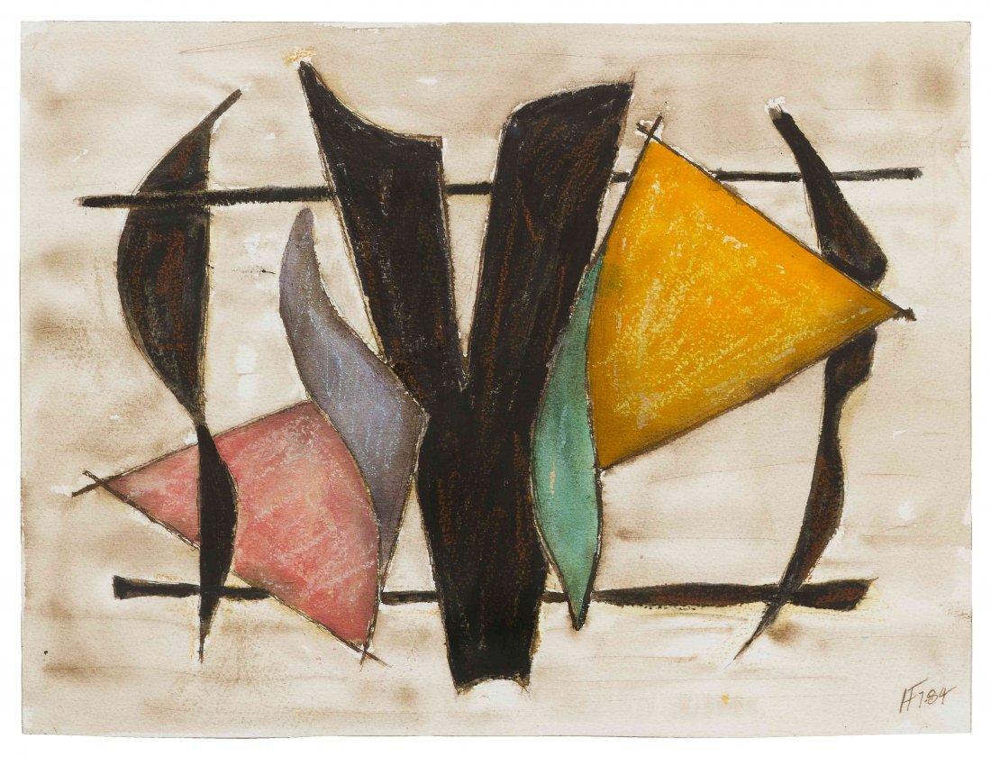 Herbert Ferber, (American, 1906-1991), Untitled, 1984
