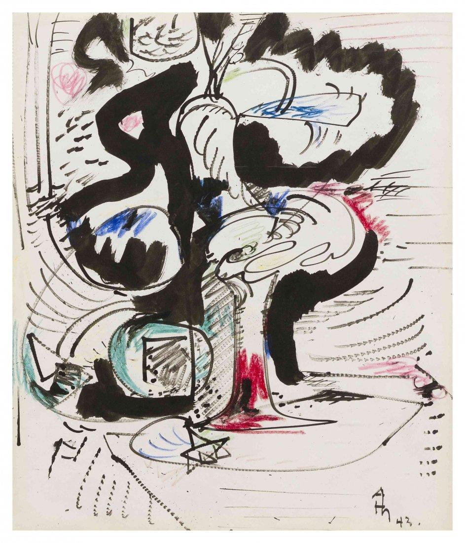 Hans Hofmann, (German/American, 1880-1966), Untitled, 1