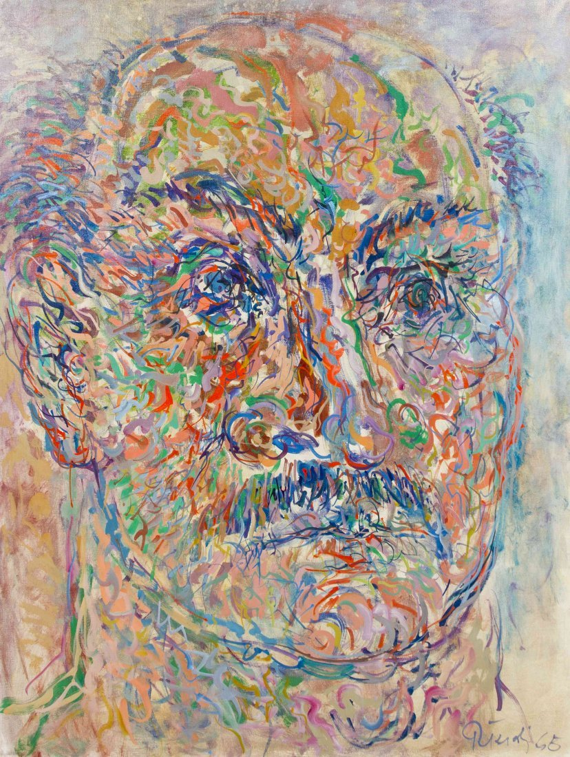 Gabor Peterdi, (American, 1915-2001), Self-Portrait, 19