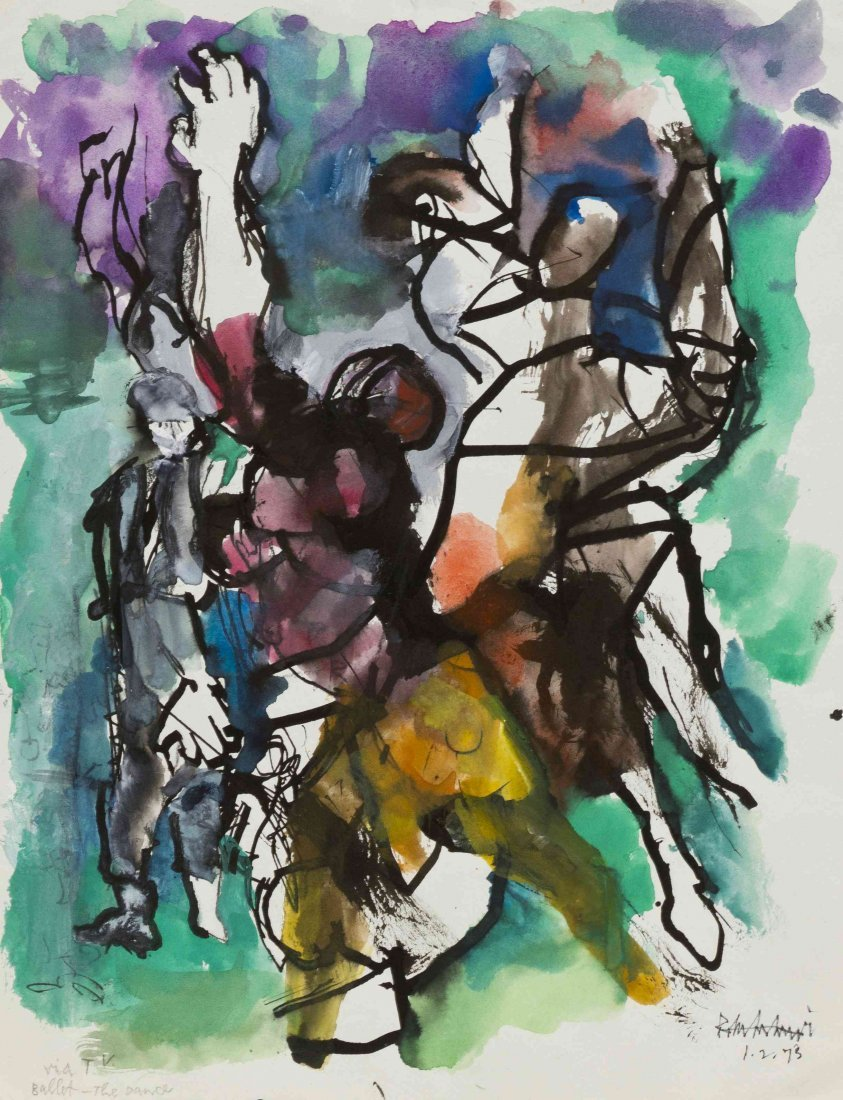 Abraham Rattner, (American, 1895-1978), Ballet-The Danc
