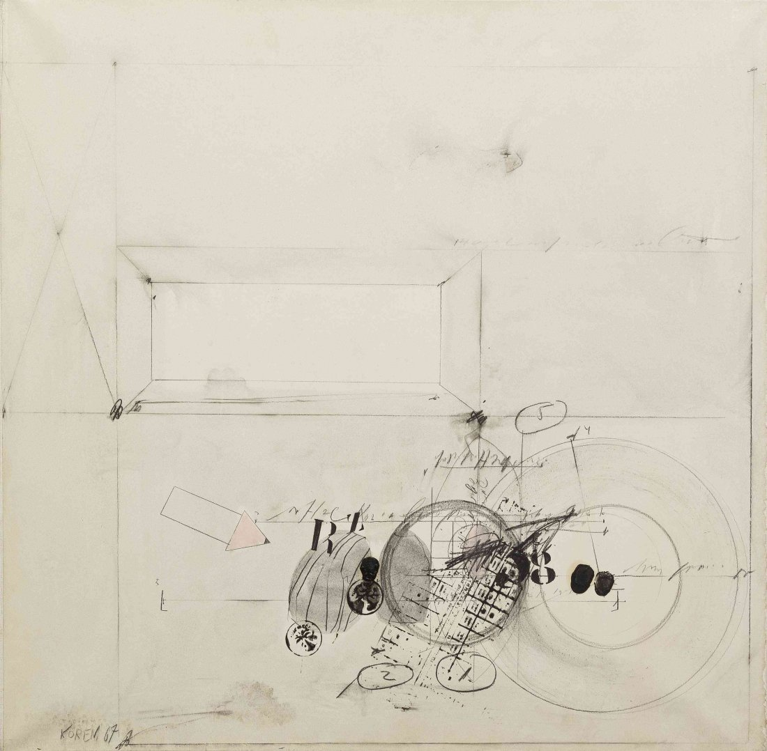 Shlomo Koren, (German, b. 1932), Textless Document III,