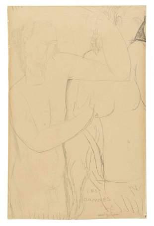 Amedeo Modigliani, (Italian, 1884-1920), Les Damnes