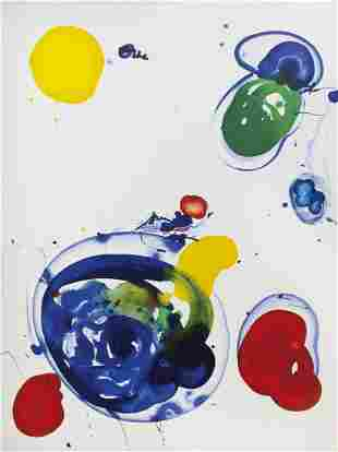 Sam Francis, (American, 1923-1995), Untitled, c. 1986