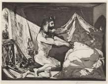 Pablo Picasso, (Spanish, 1881-1973), Faune devoilant un