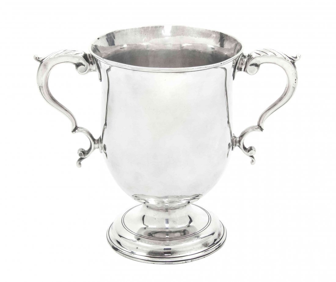 An English Silver Loving Cup, James Stamp, Height 6 1/8