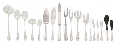 A French Silverplate Partial Flatware Service Christof