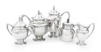 An American Sterling Silver Tea and Coffee Service, Car