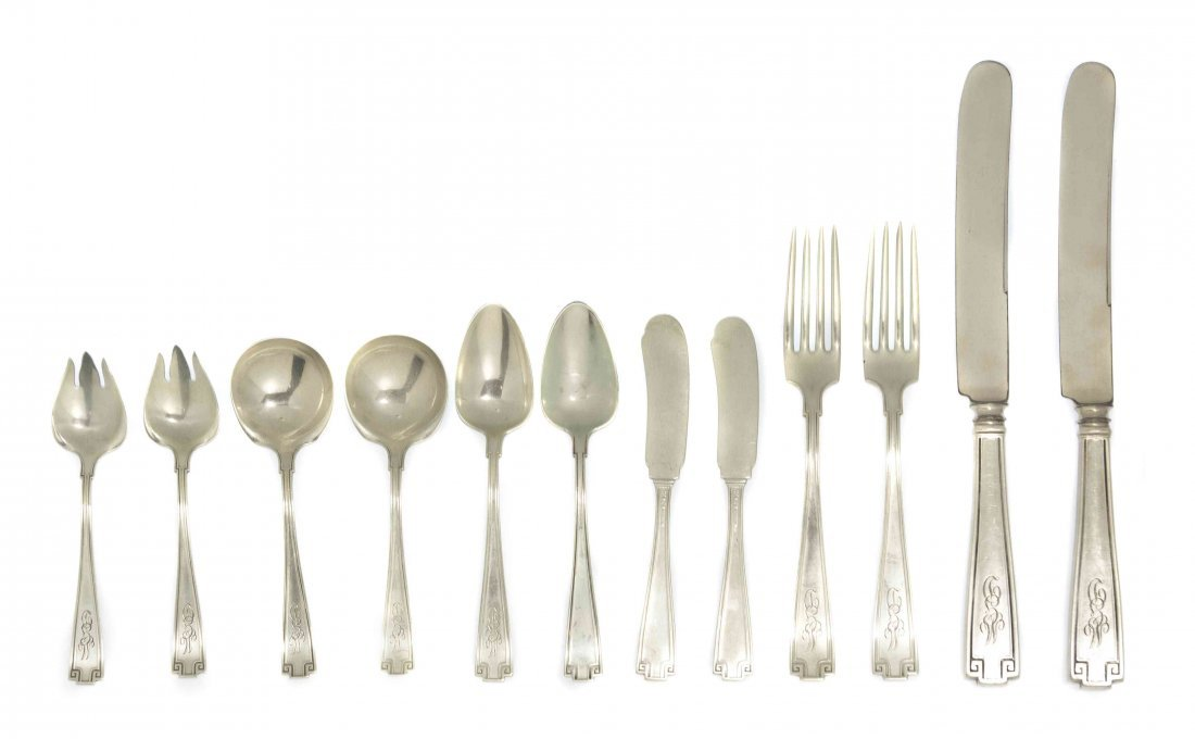 An American Sterling Silver Partial Flatware Service, G