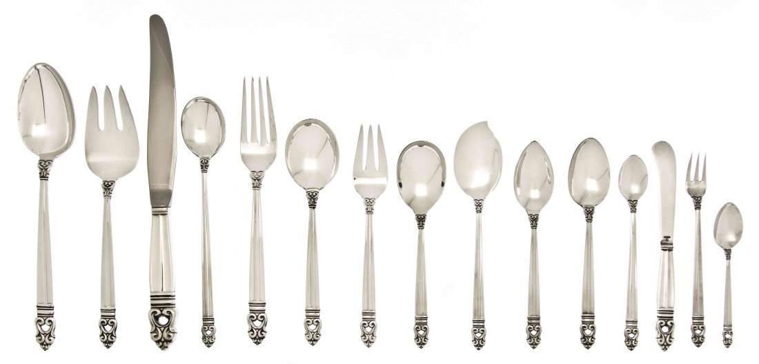 An American Sterling Silver Partial Flatware Service, I