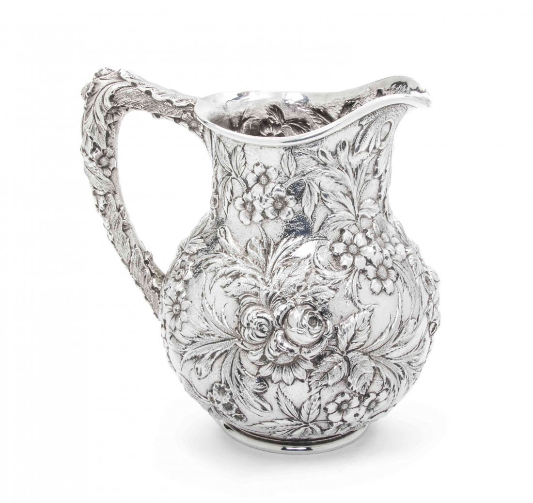 An American Sterling Silver Water Pitcher, S. Kirk & So