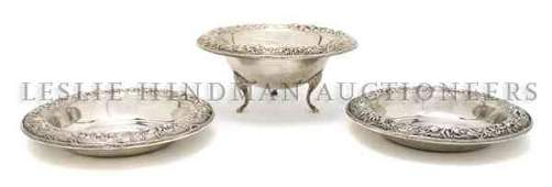 Three American Sterling Silver Articles S Kirk  Son