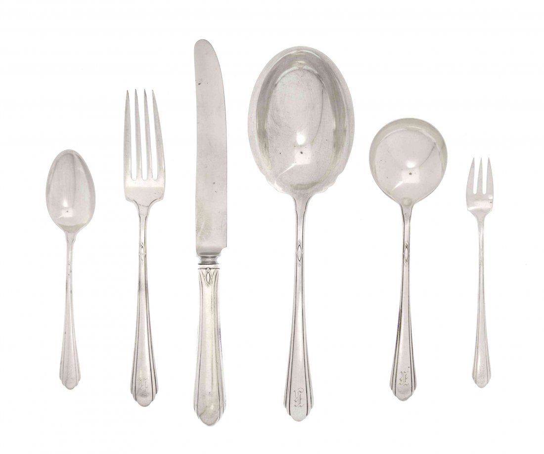 An American Sterling Silver Partial Flatware Service fo