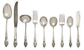 An American Sterling Silver Flatware Service for Eight