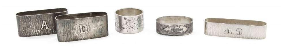 Three American Arts & Crafts Sterling Silver Napkin Rin