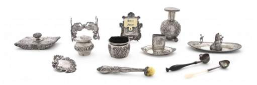 A Collection of American Sterling Silver Desk Articles