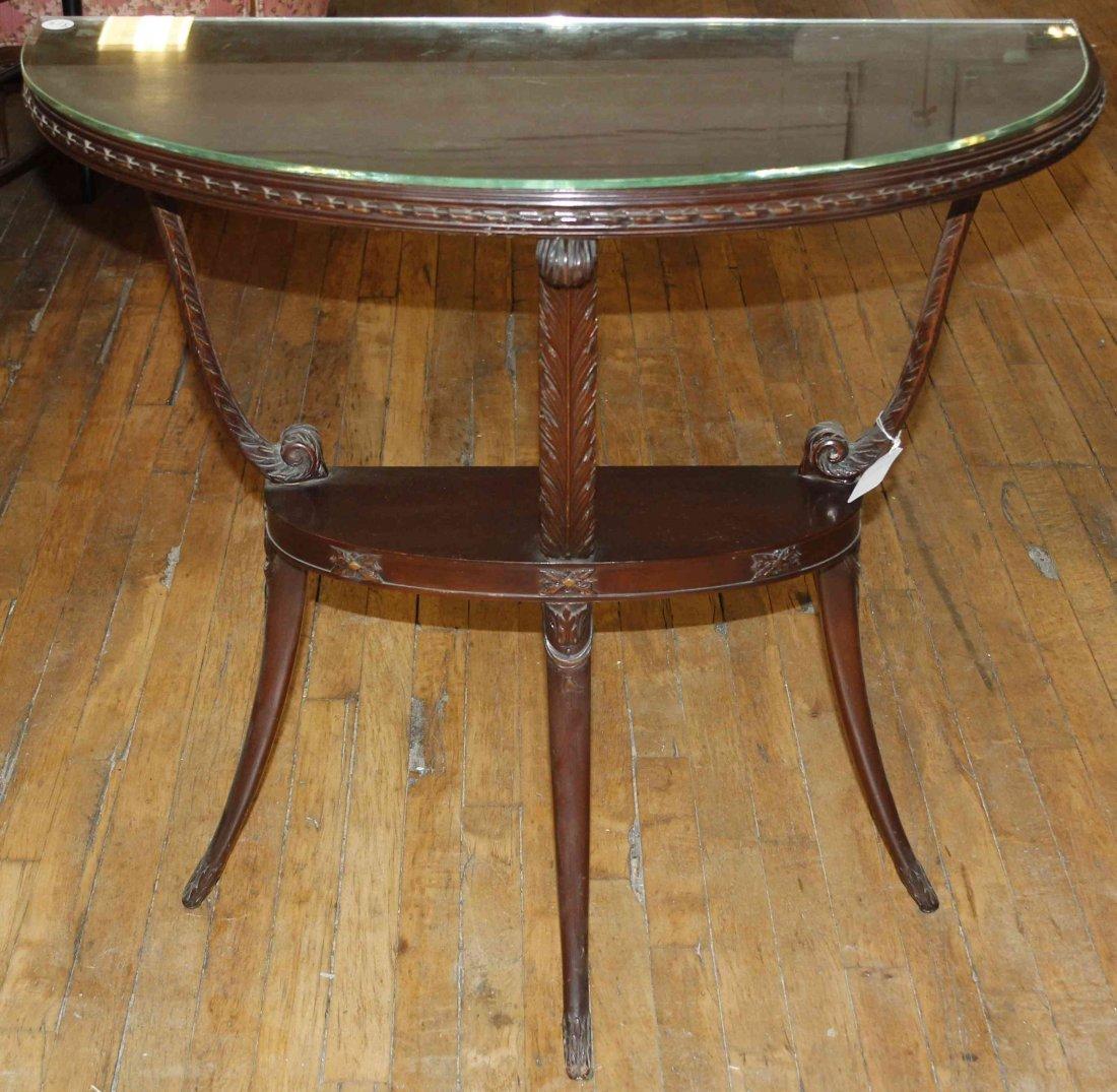 A Regency Style Mahogany Console Table, Height 32 1/8 x