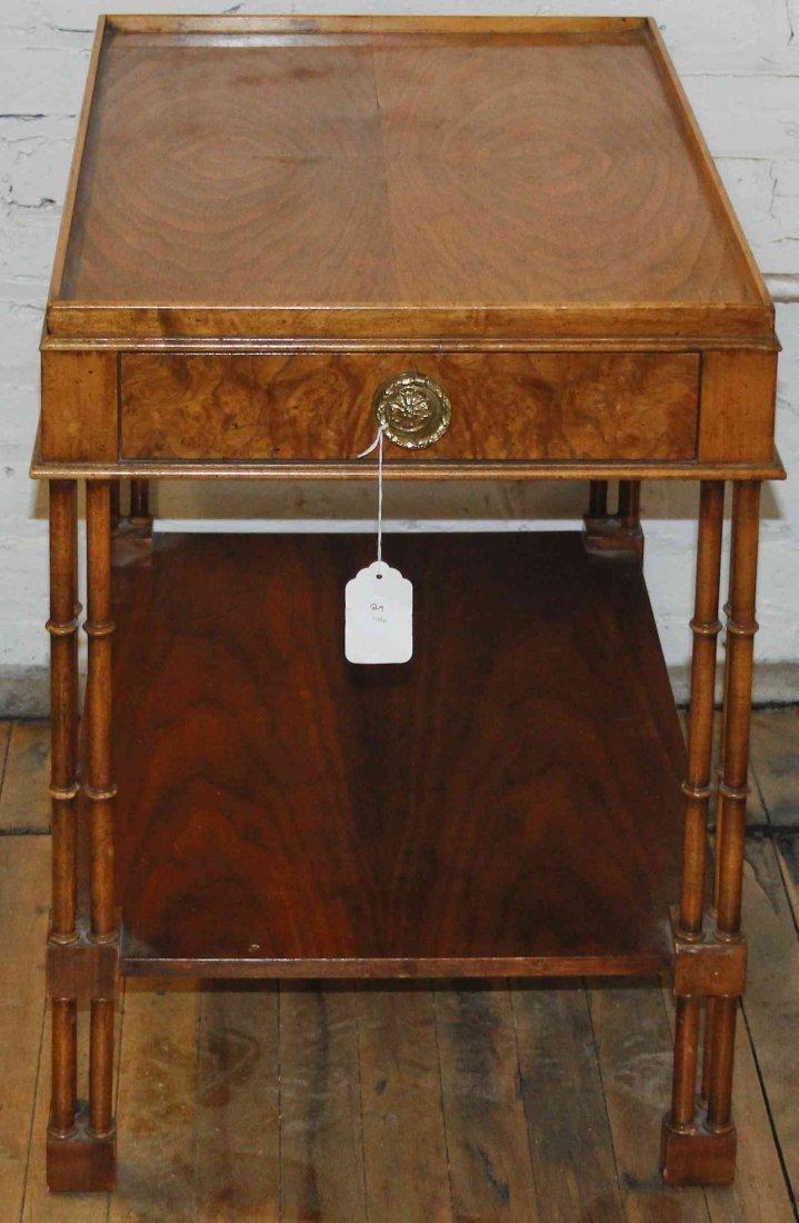 A Burlwood Veneer Occasional Table, Baker, Height 25 1/