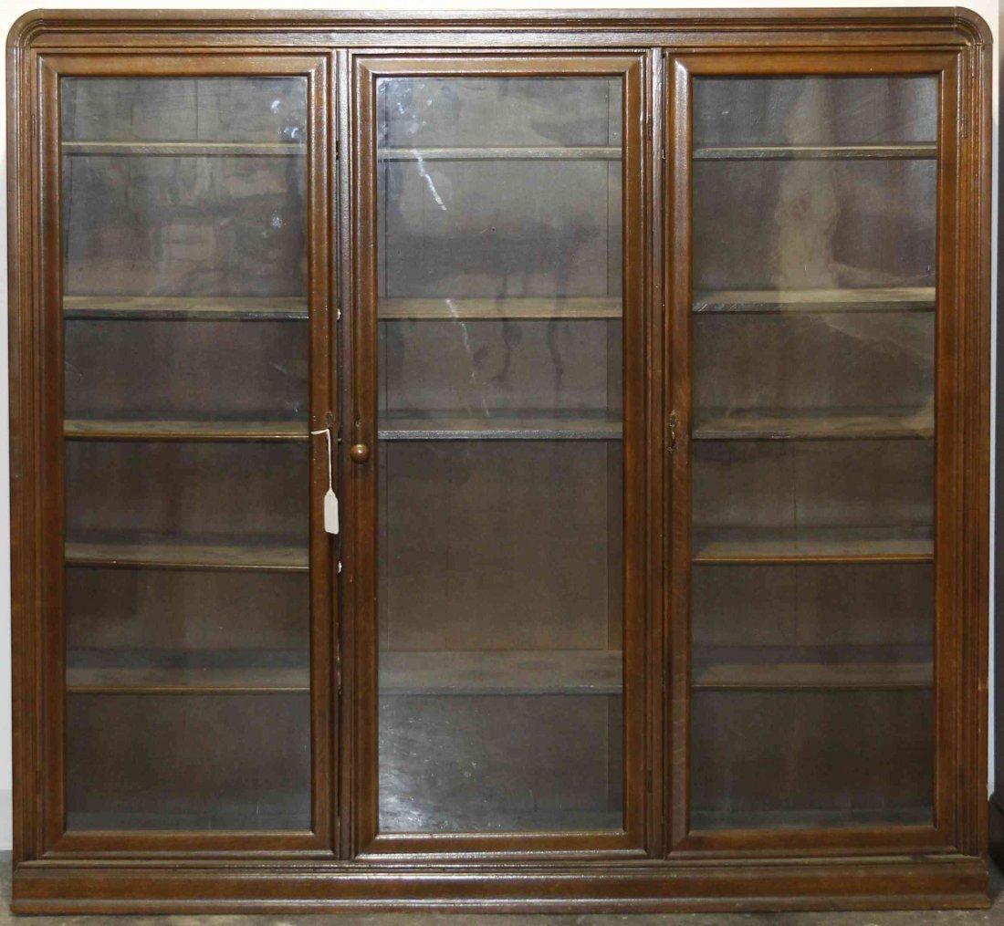 A Mahogany Vitrine Cabinet, Height 56 1/2 x width 61 3/
