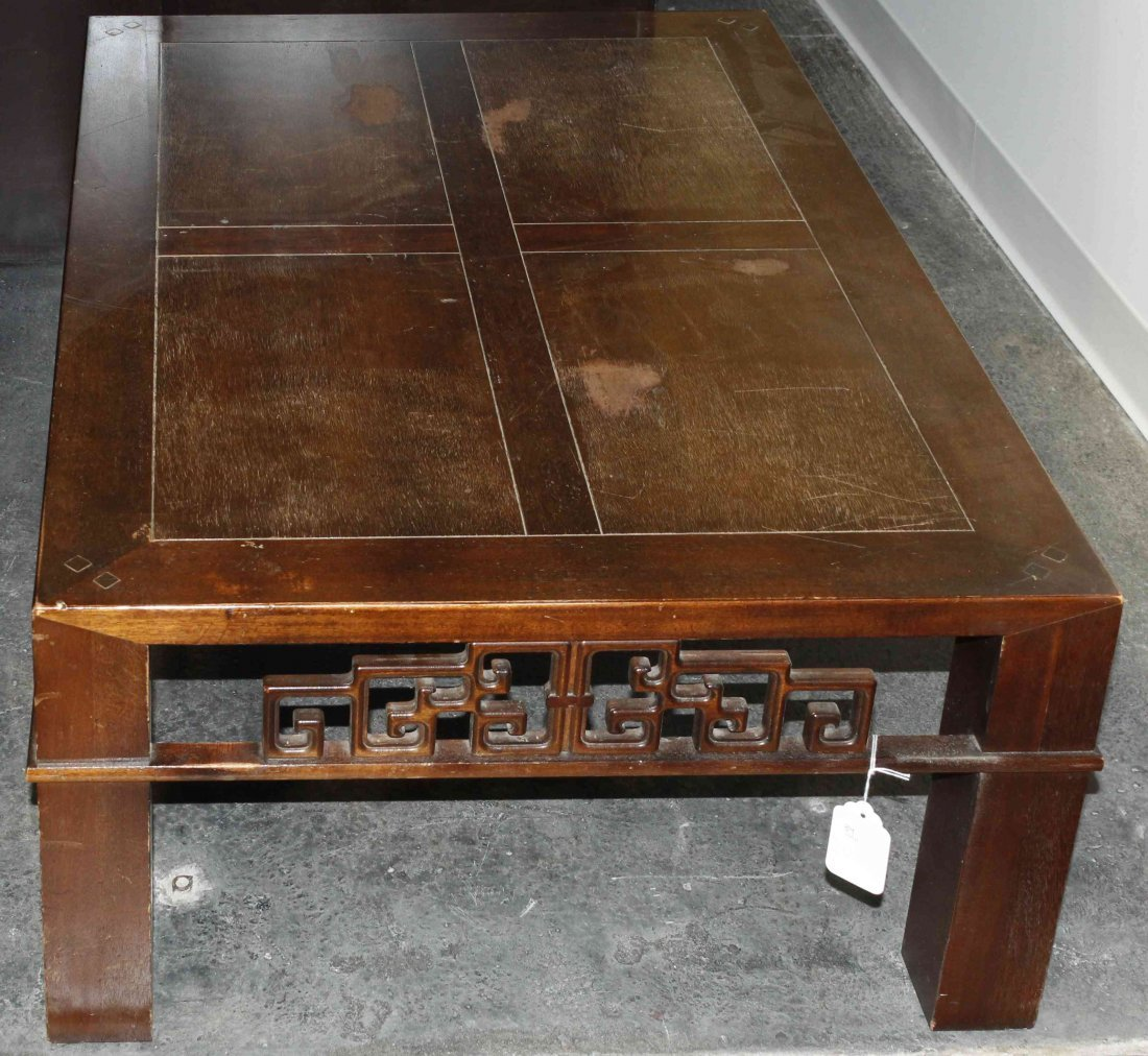 A Chinese Style Low Table, Baker, Height 15 x width 39