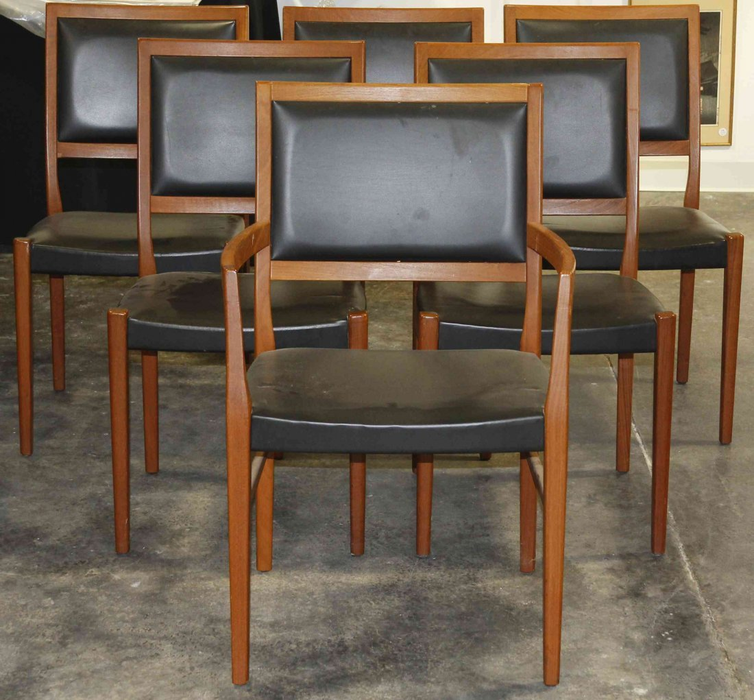 Six Danish Teak Chairs, Svengards, Height 34 3/8 inches
